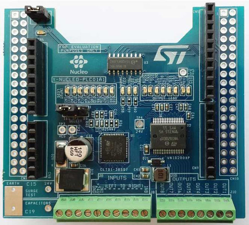 X-NUCLEO-PLC01A1 - Industrial I/O Expansion Board based on VNI8200XP and CLT01-38SQ7
