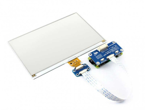 7.5 inch E-Ink display HAT(C), 640x384 Pixel, SPI for Raspberry Pi, yellow/black/white three-colour