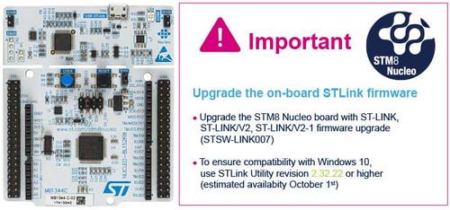 NUCLEO-8L152R8 - STM8 Nucleo-64 Dev Board, STM8L152R8T6 MCU - STMicroelectronics