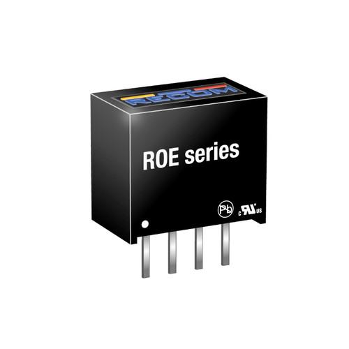 ROE-0505S - 5V 1W SIP4 Single Output DC-DC Converter - Recom Power