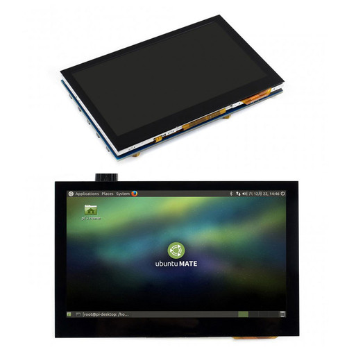 4.3inch HDMI LCD (B), 800x480, IPS, Capacitive Touch - Waveshare