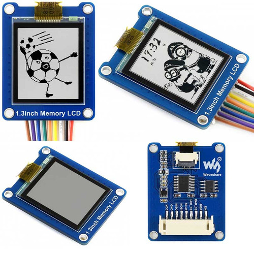 144x168, 1.3inch Bicolor LCD with Embedded Memory, Low Power - Waveshare