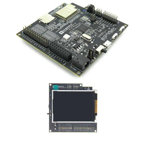 ESP-WROVER-KIT - Esp32 Development Board, JTag, TFT Display, Camera Support - Espressif
