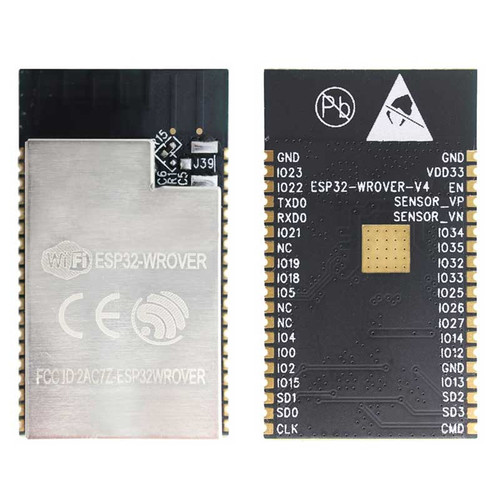 ESP32-WROVER (16MB) - Wi-Fi+BT+BLE MCU Module (SPI Flash 16MB, PCB Antenna) - Espressif