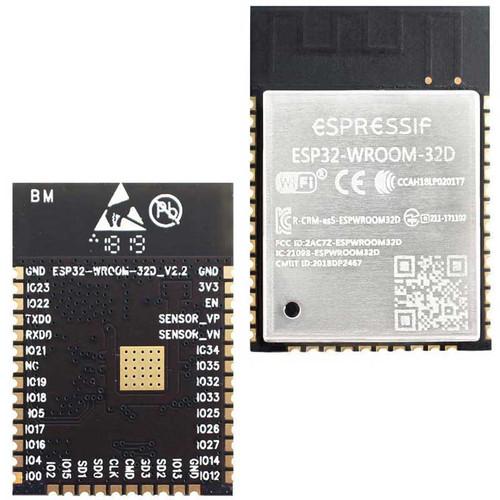 ESP32-WROOM-32D (16MB) - Wi-Fi+BT+BLE MCU Module (SPI Flash 16MB, PCB Antenna) - Espressif