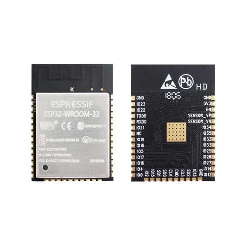 ESP32-WROOM-32 - Wi-Fi+BT+BLE MCU Module (SPI Flash 4MB, PCB Antenna) - Espressif