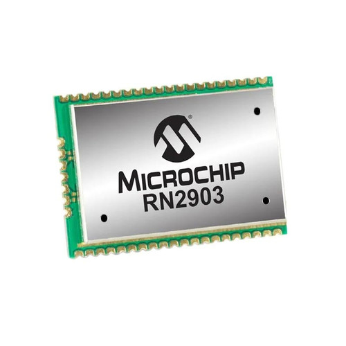 RN2903A-I/RM105 - 915 MHz LoRa Technology Transceiver Module Castellation Surface Mount - Microchip