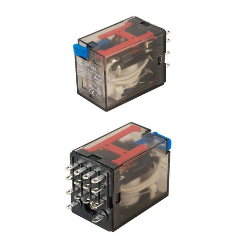 12VDC 4C(With LED) Plug-in Miniature Intermediate Power Relay 28.0 x 21.5 x 36.0mm - HF18FH/012-4Z1D  - Hongfa
