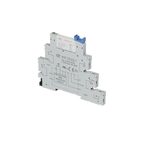 12-24V AC/DC 5-Pin Relay Socket for HF41F Series Relays - 41F-1Z-C2-1 - Hongfa
