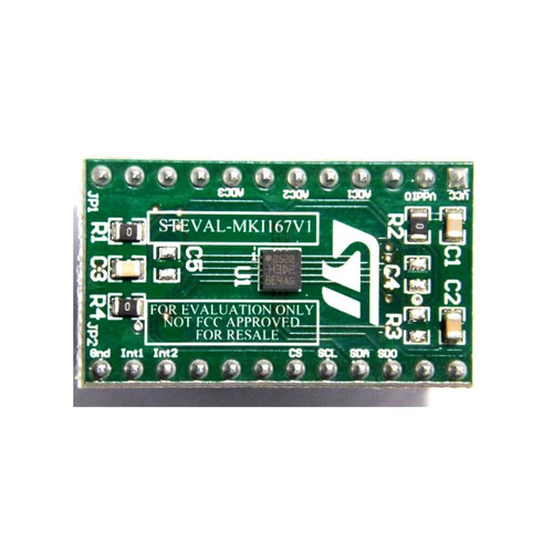 H3LIS200DL Accelerometer Adapter Board DIL24 Socket 3 Axis Sensor Evaluation Board - STEVAL-MKI167V1 - STMicroelectronics