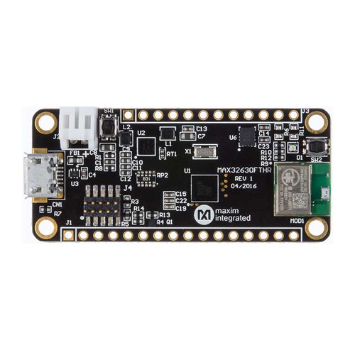 MAX14690 MAX32630 mbed-Enabled Pegasus DARWIN ARM Cortex-M4F MCU Embedded Evaluation Board - MAX32630FTHR# - Maxim Integrated