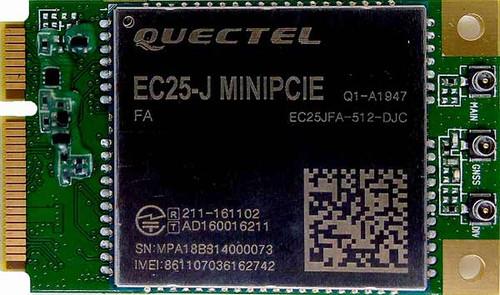 Quectel EC25-J LTE, WCDMA, GSM Mini PCIe Module