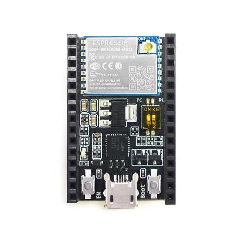ESP8266 Development Kit embeds ESPWROOM-02U, Female header - ESP8266-DevKitC-02U-F - Espressif