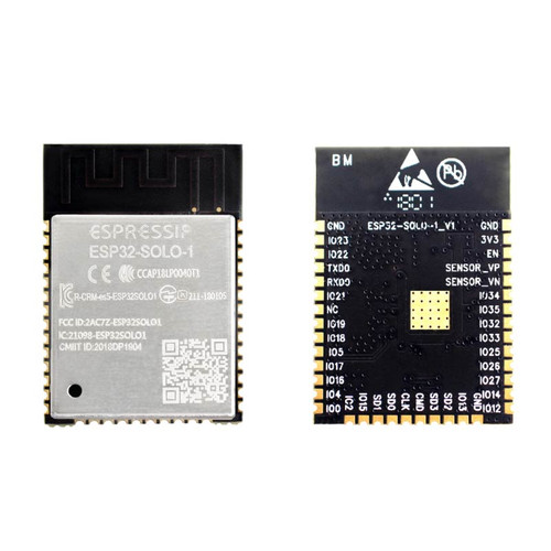 WiFi+BT/BLE Module, Single-core, 4 MB SPI Flash, PCB Antenna - ESP32-SOLO-1 - Espressif
