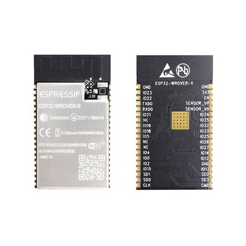 Dual-core Wi-Fi Dual-mode Bluetooth Module 16MB Flash PCB Antenna - ESP32-WROVER-B (16MB) - Espressif