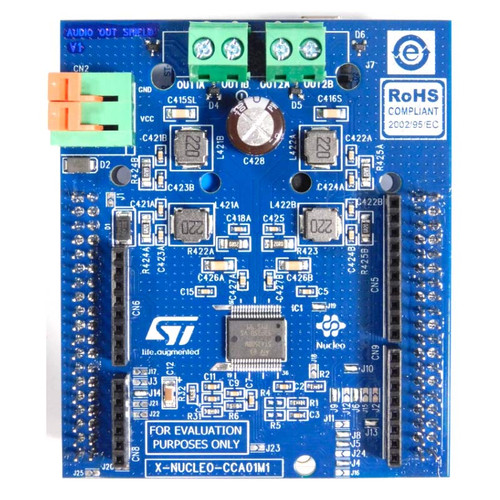 X-NUCLEO-CCA01M1 - STM32 Nucleo STA350BW Sound Terminal Expansion Board - STMicroelectronics