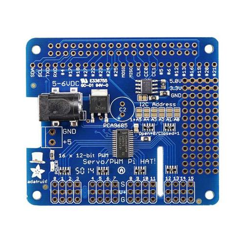 2327 - 16-Channel PWM / Servo HAT for Raspberry Pi - Mini Kit - Adafruit