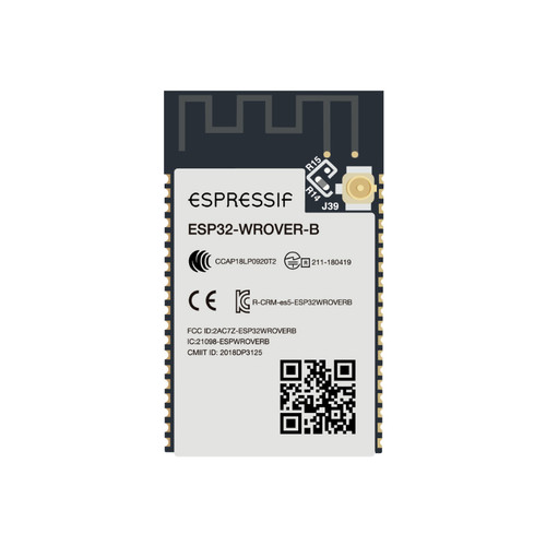 ESP32-WROVER-IB (M213DH6464UC3Q0) - 3.3V 2.4GHz Bluetooth Wi-Fi IPEX 8MB PSRAM 8MB SPI Flash 38-Pin SoC SMD Module - Espressif