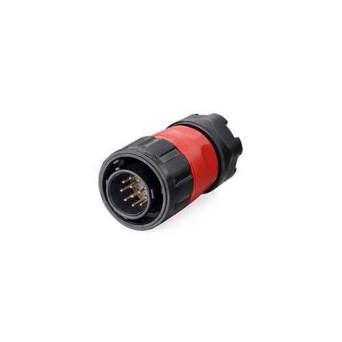 YM-20-C12PE-02-001 - YM-20 Series 12-Pin Male Plug IP67 Waterproof Power Connector - Linko Electric