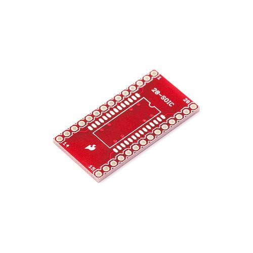 BOB-00496 - SOIC-DIP Adapter Board 28-Pin SparkFun