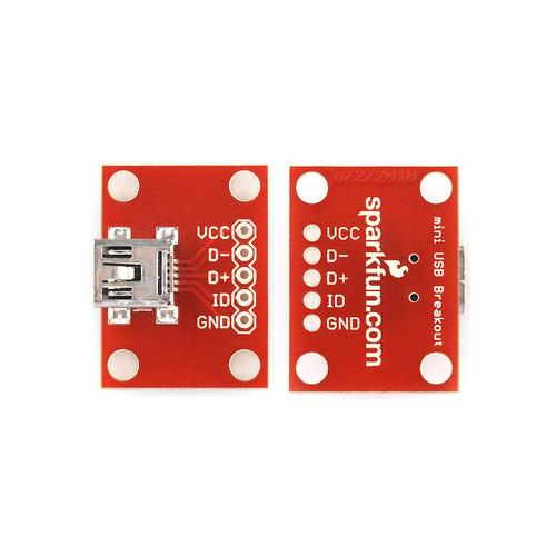 BOB-09966 - USB Mini-B Breakout SparkFun