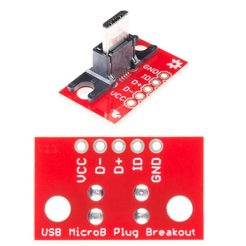 BOB-10031 - USB Micro-B Plug Breakout SparkFun