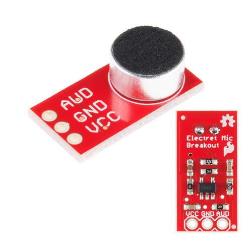 BOB-12758 - 100Hz-10kHz Electret Microphone Breakout SparkFun