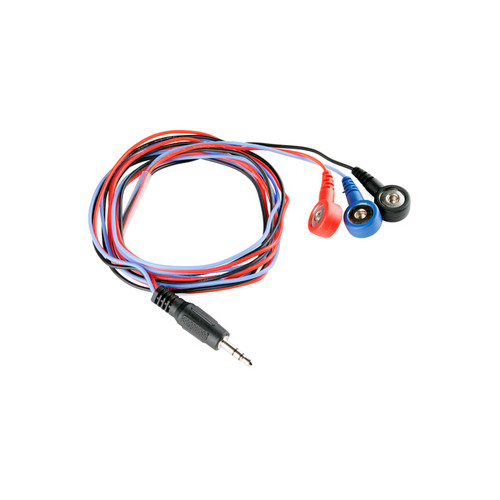 CAB-12970 - 3 Electrode Pads Biomedical Sensor Cable 24inch 3.5mm Audio Jack SparkFun