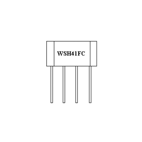 WSH41FC-XPAN5 - 20V Hall Effect Sensor IC Complementary Output Driver Frequency Generator 4-Pin SIP-4L - Winson