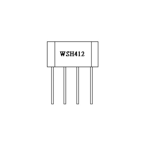 WSH412-XPAN2 - 20V Hall Effect Sensor IC Thermal Lock Protection Auto Restart Function 4-Pin SIP - Winson