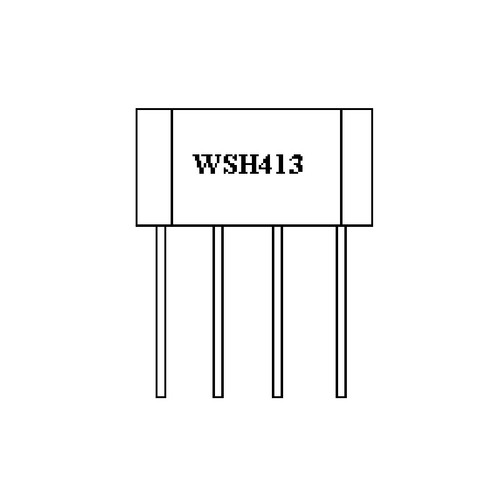 WSH413-XPAN2 - 36V Hall Effect Sensor IC Thermal Lock Protection Auto Restart Function 4-Pin SIP - Winson