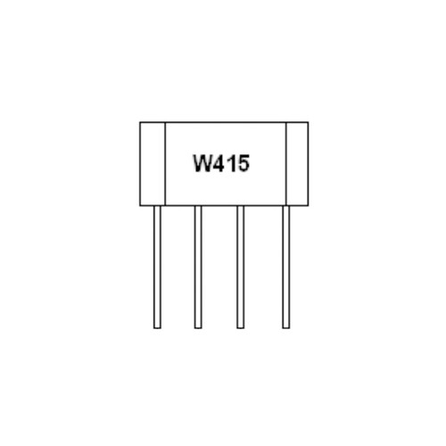 WSH415-XPAN3 - 28V Hall Effect Sensor IC Two complementary Outputs 4-Pin SIP - Winson