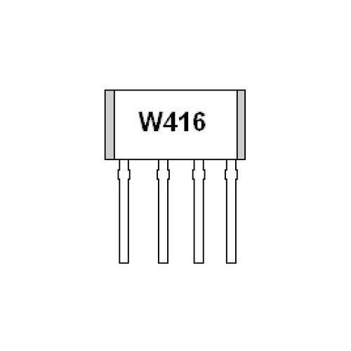 WSH416-XPAN3 - 20V Hall Effect Sensor IC Thermal Lock Protection Auto Restart Function 4-Pin SIP - Winson