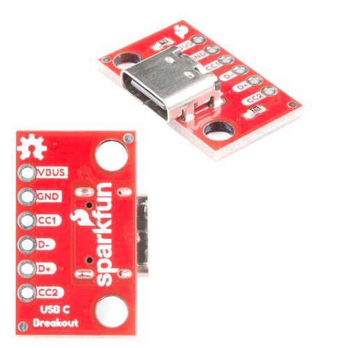 BOB-15100 - USB-C Breakout SparkFun - SparkFun