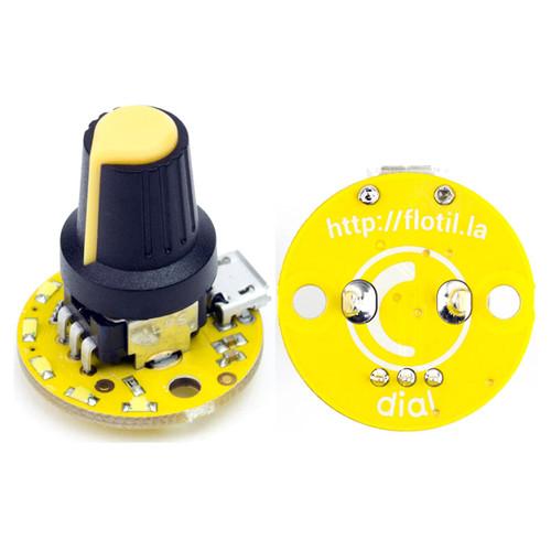 PIM035 - Flotilla Dial Module Rotary Potentiometer 5 LEDs - Pimoroni