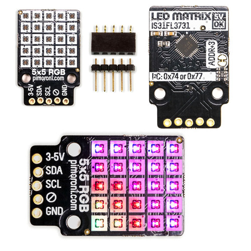 PIM435 - 5x5 RGB Matrix Breakout IS31FL3731 I2C - Pimoroni
