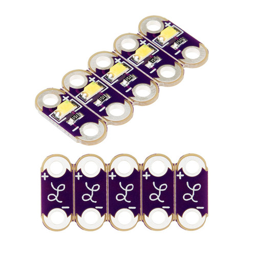 DEV-13902 - LilyPad White LED (5pcs) SparkFun - SparkFun