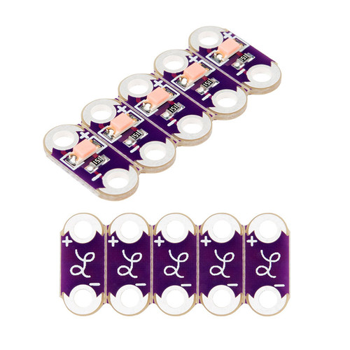 DEV-14010 - LilyPad Pink LED Strip (5pcs) SparkFun - SparkFun