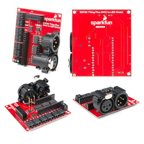 DEV-15110 - ESP32 Thing Plus DMX to LED Shield SparkFun - SparkFun