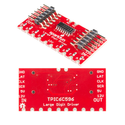 WIG-13279 - TPIC6C596 Large Digit Driver Chainable SparkFun - SparkFun