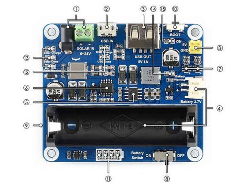 Solar Power Management Module For 6V~24V Solar Panel