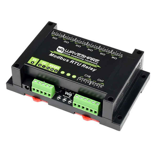 Industrial Modbus RTU 8-Ch Relay Module With RS485 Interface