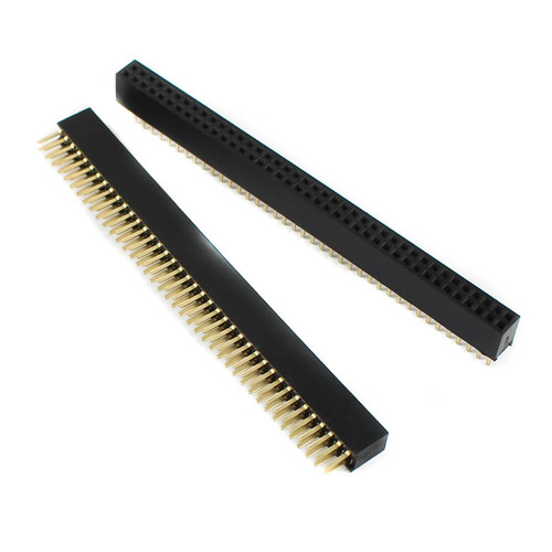 1.27mm 2×40 Pin Straight Female Header Berg Strip