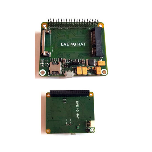 MINI-PCIe-HAT - Evelta Raspberry Pi 4G LTE Base HAT with mini PCIe Slot