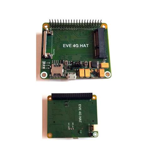 MINI-PCIe-HAT - Evelta Raspberry Pi 4G LTE Base HAT with mini PCIe Slot