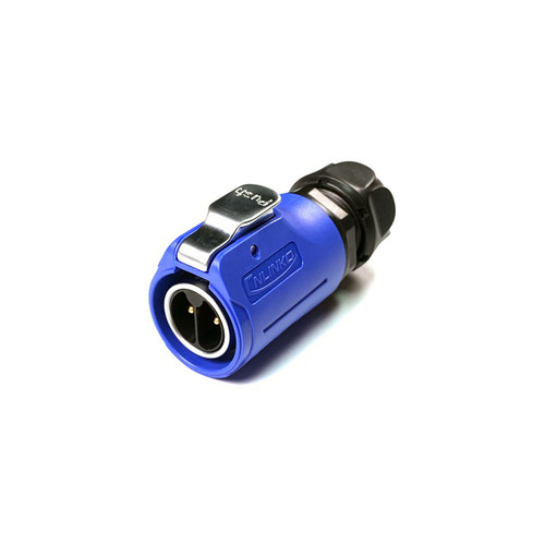 LP-20-C02PE-01-002A - LP20 Series 500V 20A 2Pin Male Plug IP67 Waterproof Power Connector with Barrier - Linko Electric
