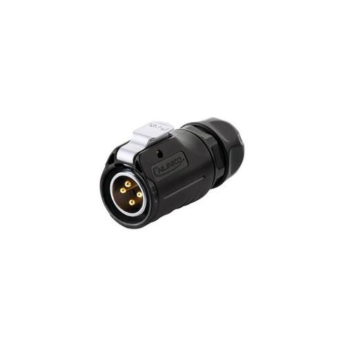 LP-20-C04PE-01-022 - LP20 Series 500V 20A 4Pin Male Plug IP67 Waterproof Power Connector - Linko Electric
