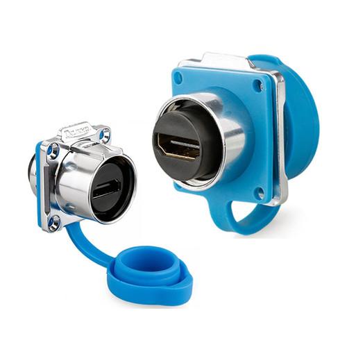 LP-24-J/HDMI2/213/SX-43-401 - LP-24-HDMI Female Socket IP67 Waterproof Signal Data Connector  - Linko Electric