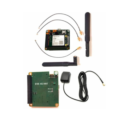 Evelta EC20 MiniPCIe IoT/M2M-optimized 4G LTE Raspberry Pi HAT