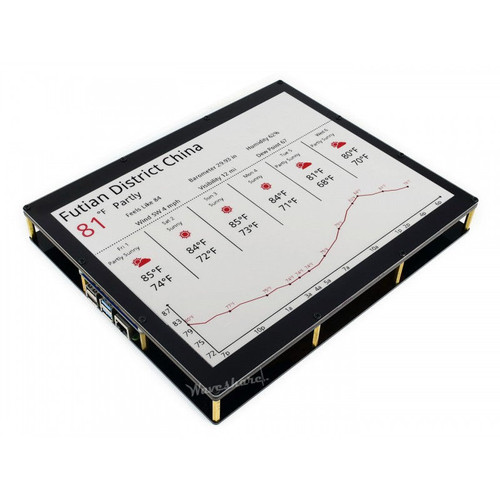 12.48 inch Three-Color E-Ink Display Module, 1304×984, red, black, white three-color